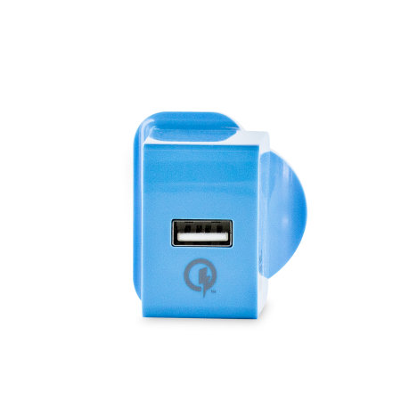 Superjuice Qualcomm Quick Charge Mains Charger and Micro USB - Blue