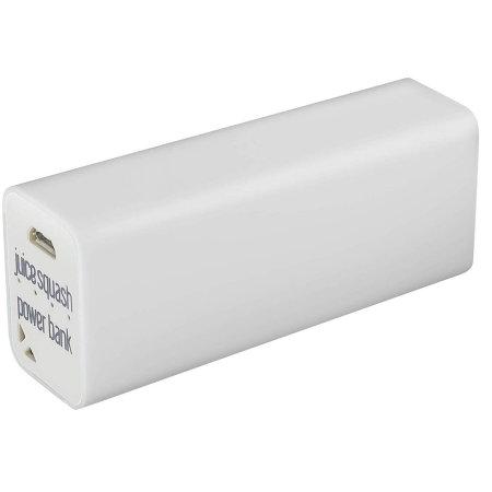 Juice 2800 mAh Squash Fast Charge Portable Power Bank - White