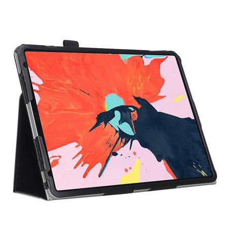 Olixar  Leather-Style iPad Pro 12.9 2018 Stand Case - Black