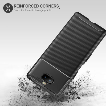 Olixar Carbon Fibre Sony Xperia 10 Plus Case - Black