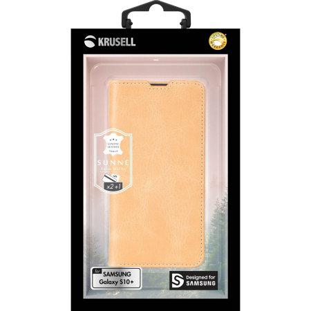 Krusell Sunne Samsung Galaxy S10 Plus Folio 2 Card Wallet Case - Nude