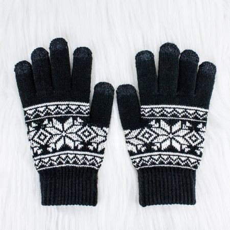 SmartTips Premium Unisex Touchscreen Gloves - Black