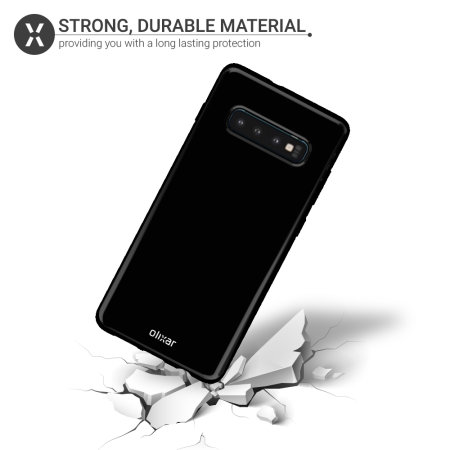 Olixar FlexiShield Samsung Galaxy S10 Gel Case - Solid Black