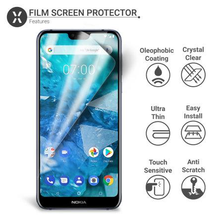 Olixar Nokia 7.1 Film Screen Protector 2-in-1 Pack