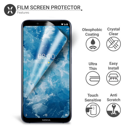 Olixar Nokia 8.1 Film Screen Protector 2-in-1 Pack