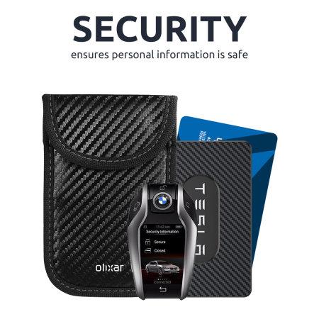 Olixar portachiavi auto con blocco del segnale RFID -Fibra di carbonio
