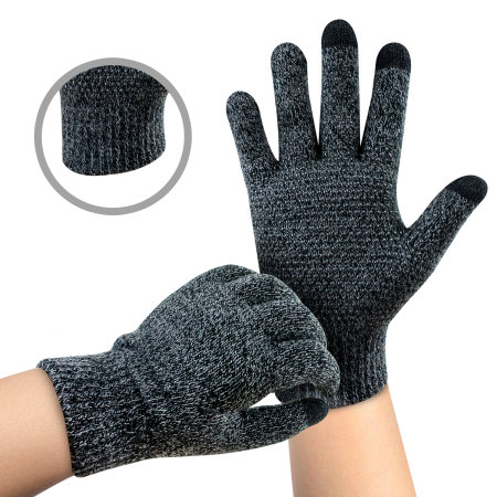 Olixar Smart TouchTip Unisex Touch Screen Gloves - Dark Grey