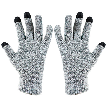 Olixar Smart TouchTip Unisex Touch Screen Gloves - Light Grey