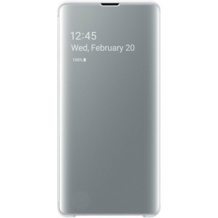 Official Samsung Galaxy S10 Plus Clear View Cover Case - White