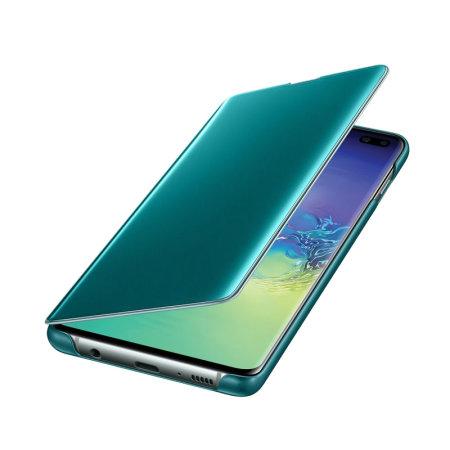 Custodia ufficiale Samsung Galaxy S10 Plus Clear View Cover - Verde