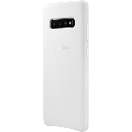 Official Samsung Galaxy S10 Plus Leather Cover Case - White