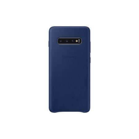 Cover Ufficiale Samsung Galaxy S10 Plus Custodia vera pelle - Blu