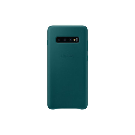 Official Samsung Galaxy S10 Plus Leather Cover Case - Green