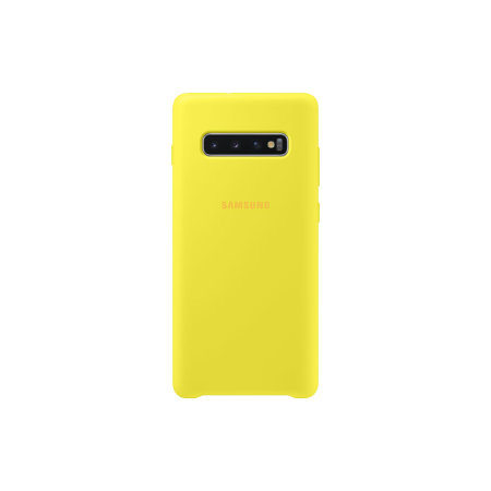Official Samsung Galaxy S10 Plus Silicone Cover Case - Yellow