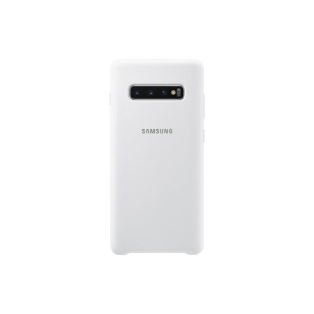 Official Samsung Galaxy S10 Plus Silicone Cover Case - White