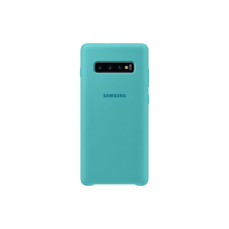 Official Samsung Galaxy S10 Plus Silicone Cover Case - Green