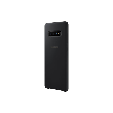Official Samsung Galaxy S10 Plus Silicone Cover Case - Black