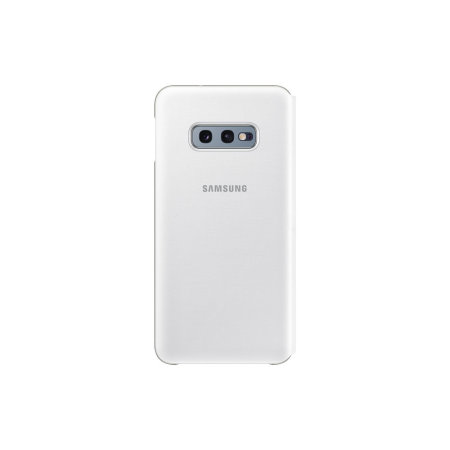 Official Samsung Galaxy S10e LED View Cover Case - White