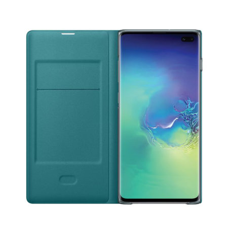 Custodia ufficiale Samsung Galaxy S10 Plus LED View Cover - verde