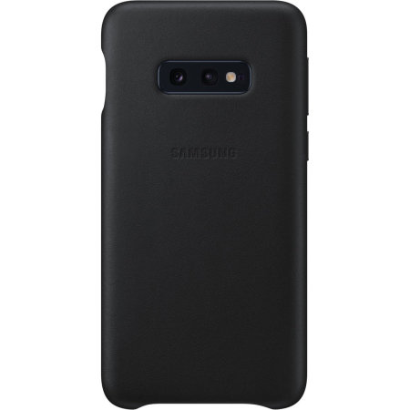 Official Samsung Galaxy S10e Genuine Leather Cover Case - Black