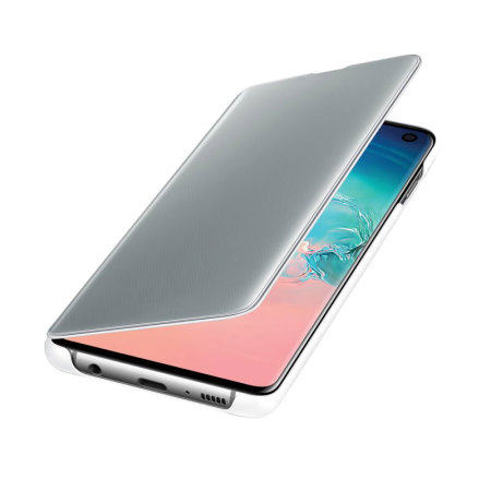 Official Samsung Galaxy S10 Clear View Case - White