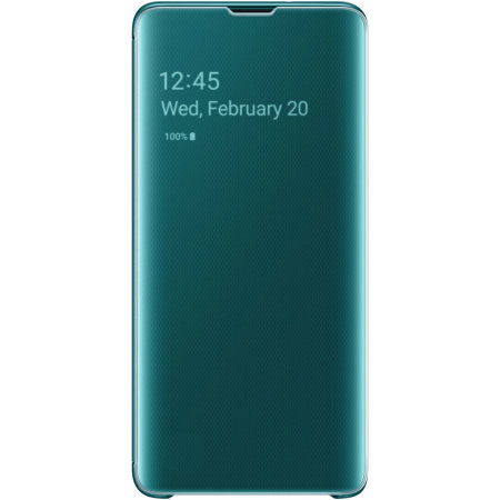 Official Samsung Galaxy S10 Clear View Case - Green