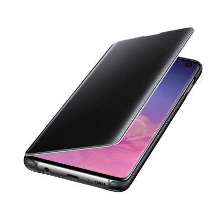 Official Samsung Galaxy S10 Clear View Cover Case - Black