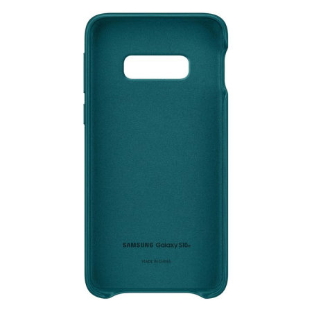 Official Samsung Galaxy S10e Genuine Leather Cover Case - Green