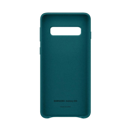 Official Samsung Galaxy S10 Leather Cover Case - Green