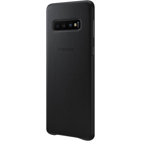 Official Samsung Galaxy S10 Genuine Leather Cover Case - Black