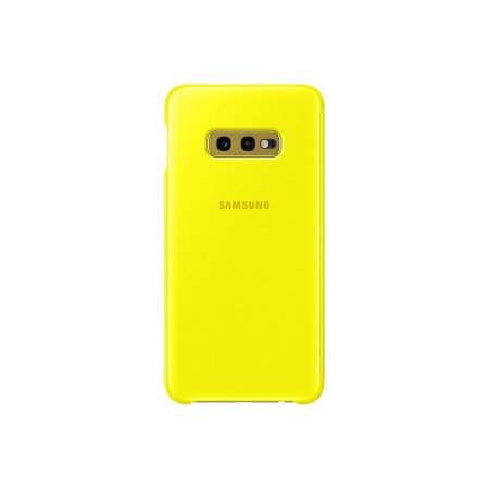Official Samsung Galaxy S10e Clear View Cover Case - Yellow