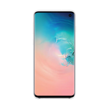 Official Samsung Galaxy S10 Silicone Cover Case - White