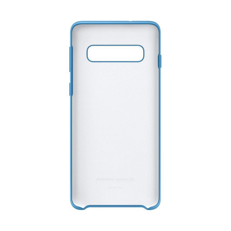 Official Samsung Galaxy S10 Silicone Cover Case - Blue