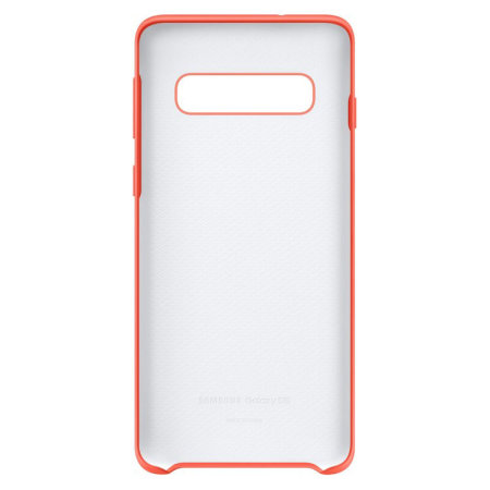 Official Samsung Galaxy S10 Silicone Cover Case - Berry Pink
