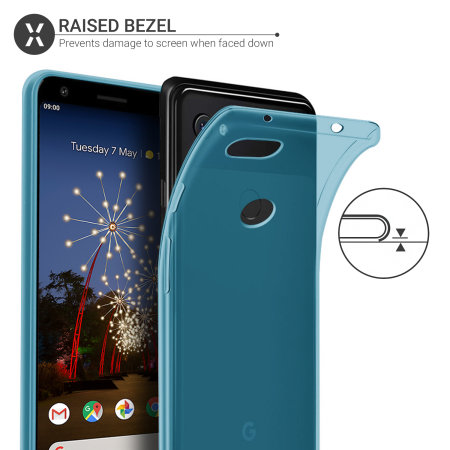 Olixar FlexiShield Google Pixel 3a Gel Case - Blue