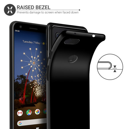 Olixar FlexiShield Google Pixel 3a Gel Case - Black