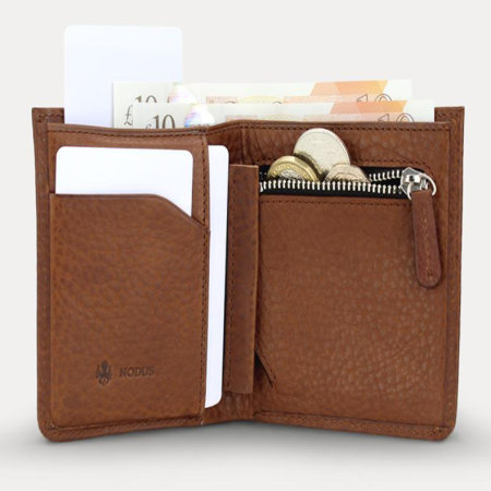 Nodus Card Wallet Hifold Coin - Chestnut Brown