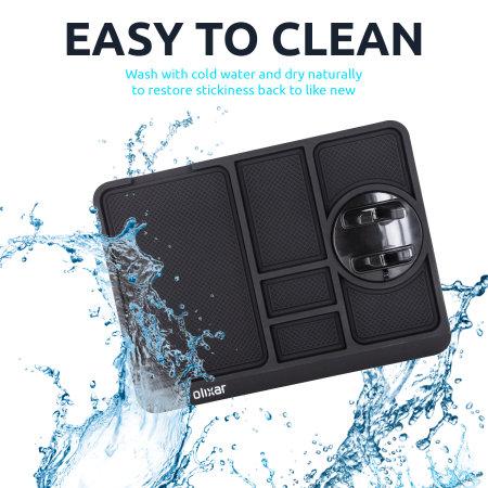 Olixar Non-Slip Sticky Dashboard Mat With Phone Holder - Black