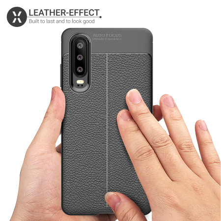 Olixar Attache Huawei P30 Leather-Style Case - Black