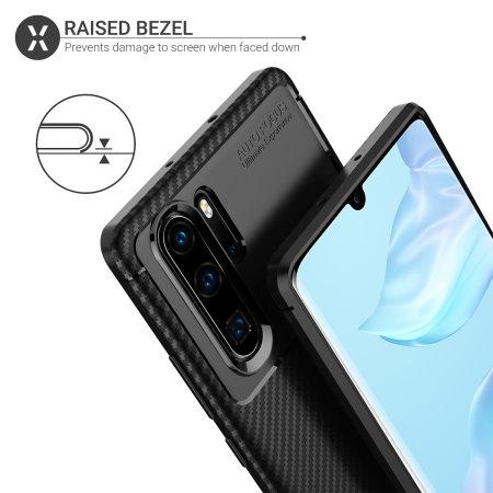 Olixar Carbon Fibre Huawei P30 Pro Case - Black