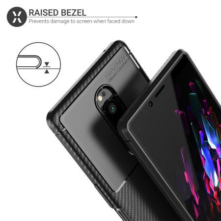 Olixar Sony Xperia 1 Carbon Fibre Case - Black