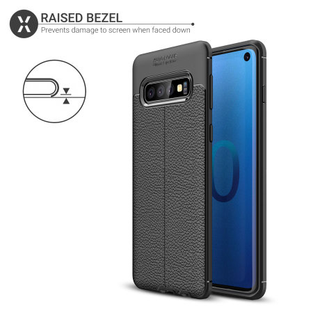 Olixar Attache Samsung Galaxy S10 Leather-Style Case - Black