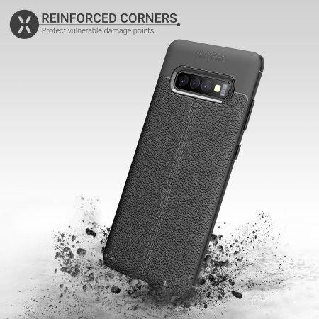 Olixar Attache Samsung Galaxy S10 Plus Leather-Style Case - Black