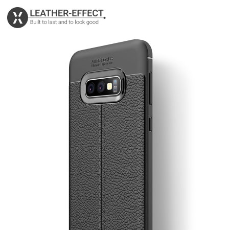 Olixar Attache Samsung Galaxy S10e Leather-Style Case - Black