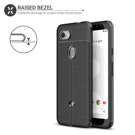 Olixar Attache Google Pixel 3a Leather-Style Case - Black