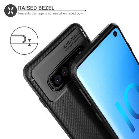 Olixar Carbon Fibre Samsung Galaxy S10 Case - Black