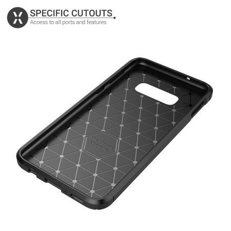 Cover in fibra di carbonio Olixar Samsung Galaxy S10e  - Nero