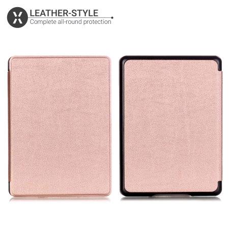 Olixar Leather-style Kindle Paperwhite 4 Case - Rose Gold