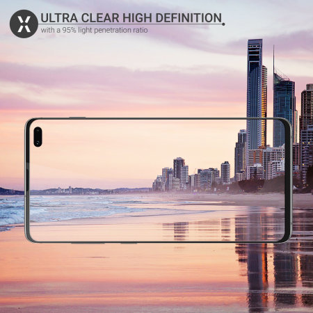 Olixar Galaxy S10 Plus Case Compatible Glass Screen Protector - Black