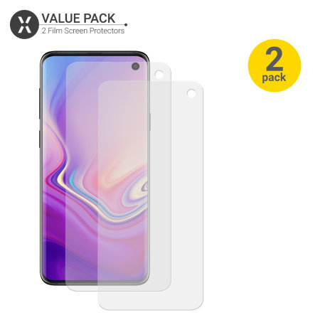 Olixar Samsung Galaxy S10 Film Screen Protector 2-in-1 Pack